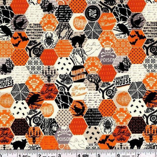 Happy Haunting - Hexagon - Orange
