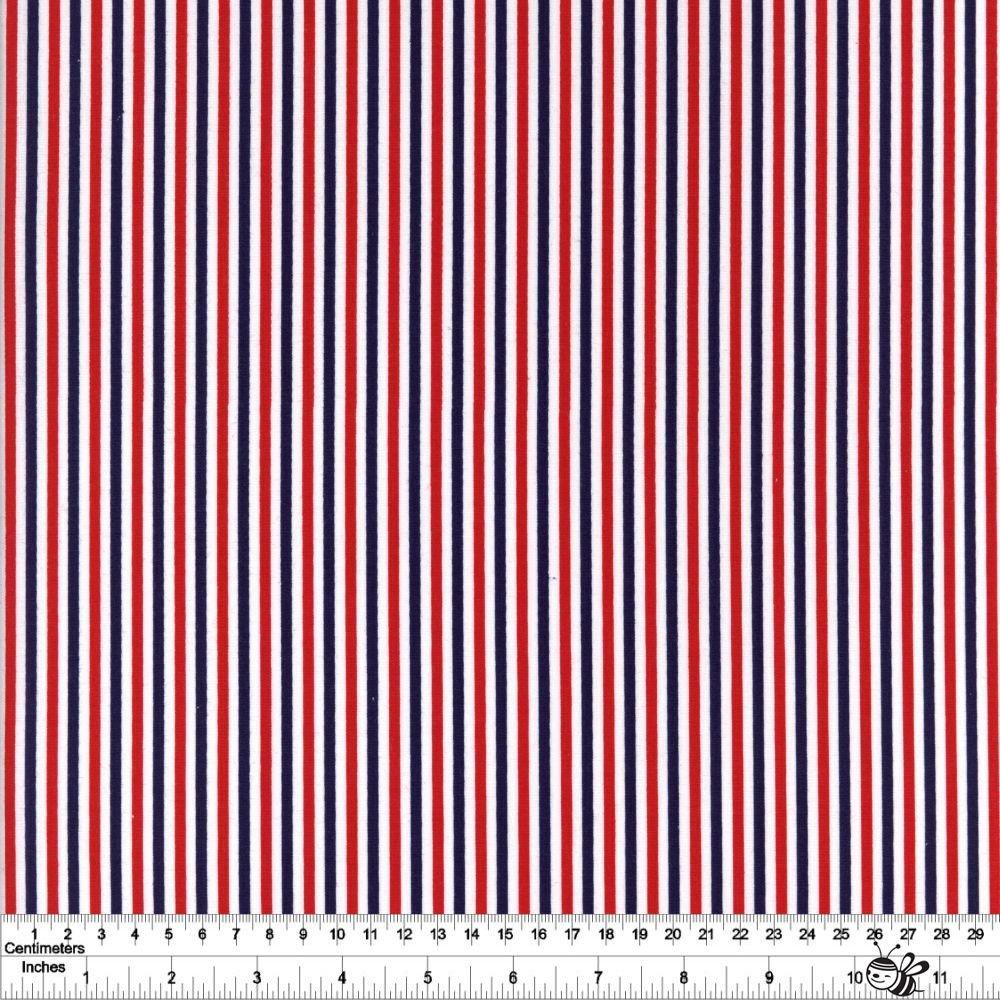 Seasonal Basics - 1/8 Stripe - Patriotic