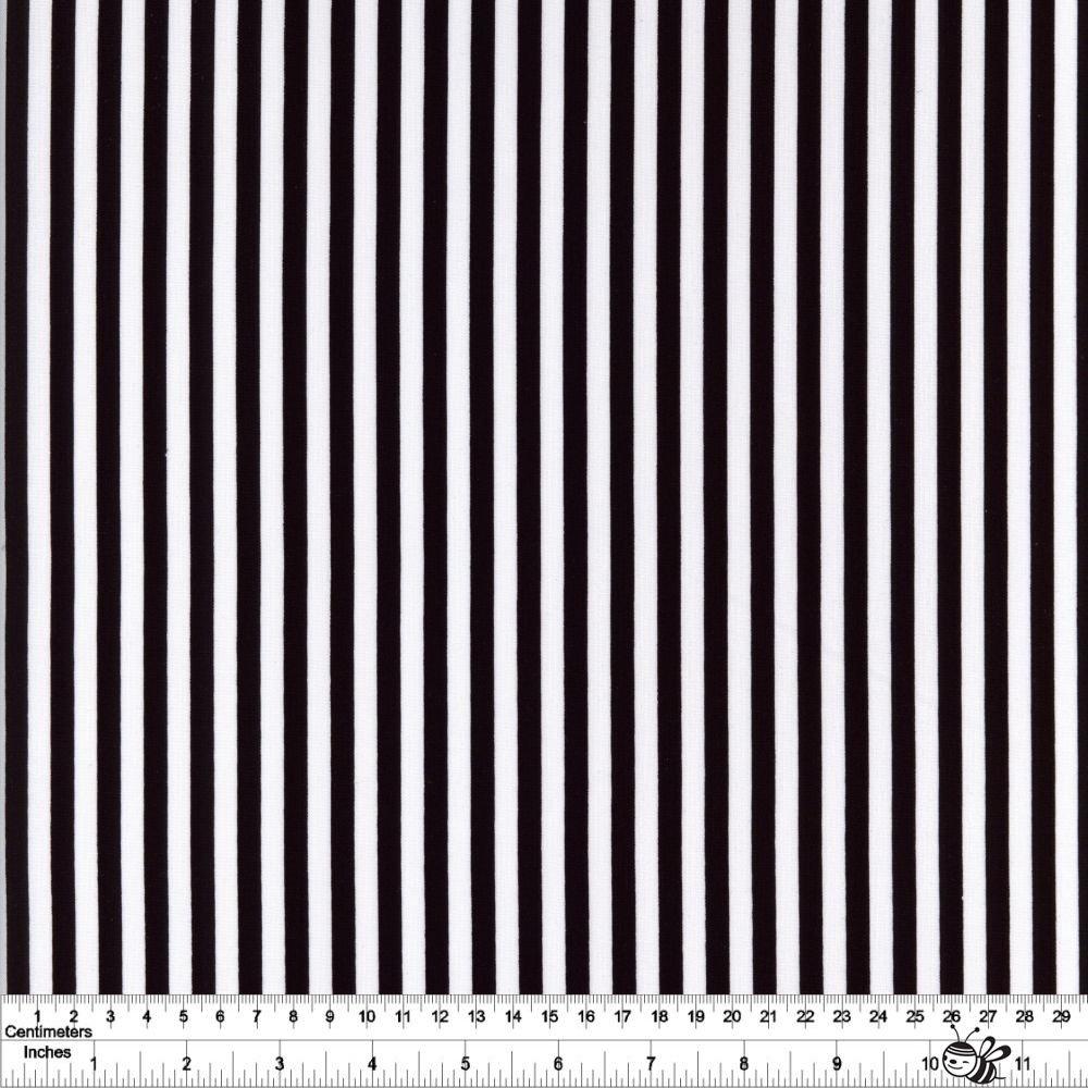 1/4 Stripe - Black & White