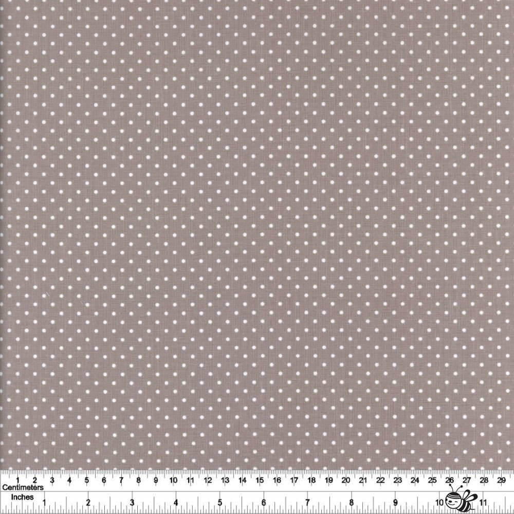Swiss Dot - White on Grey