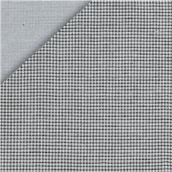 Double Cloth Cotton - Mini Check Reversible Double Gauze - Grey