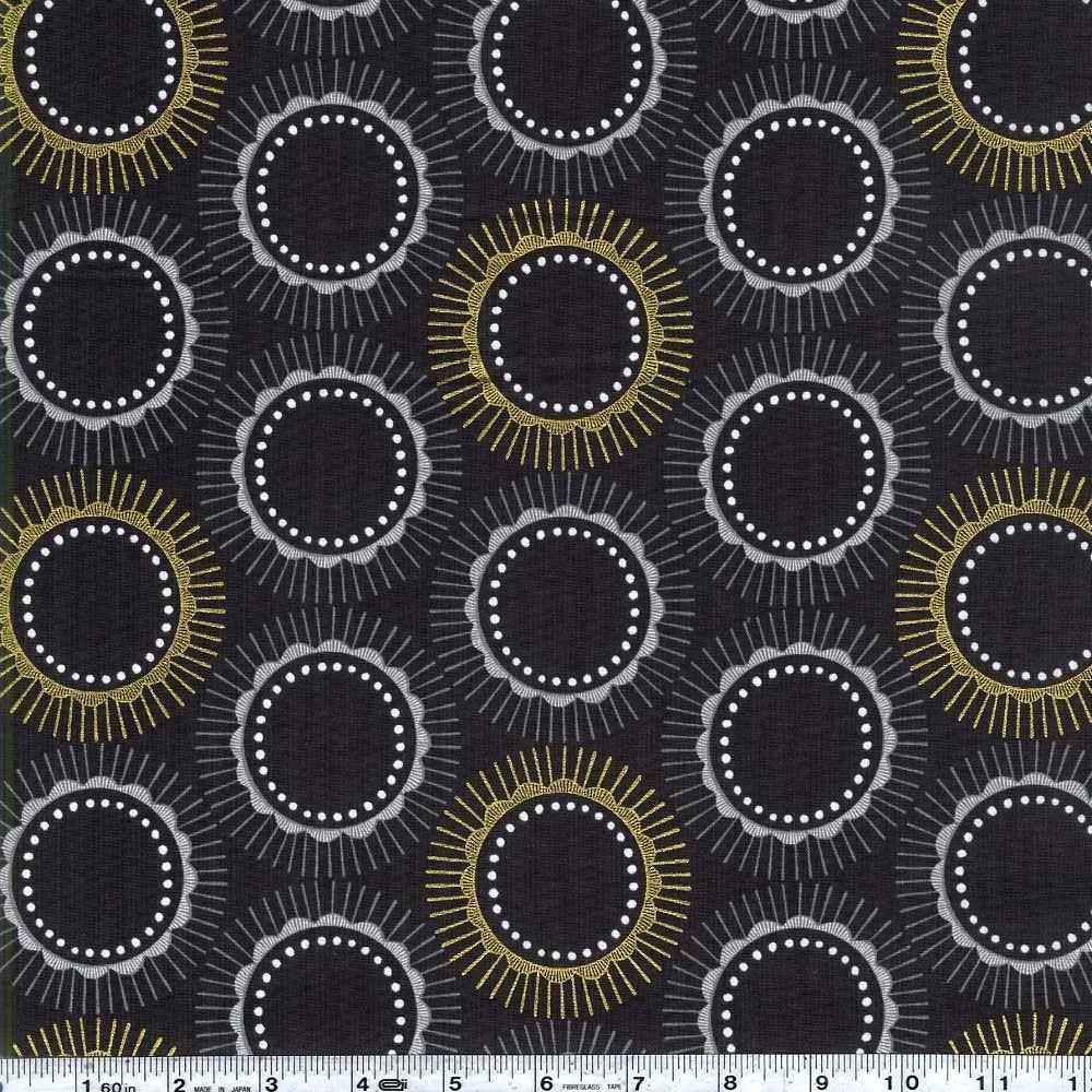 Newsprint - Kibori - Tara - Charcoal Metallic
