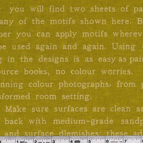 Painting Text - Chartreuse