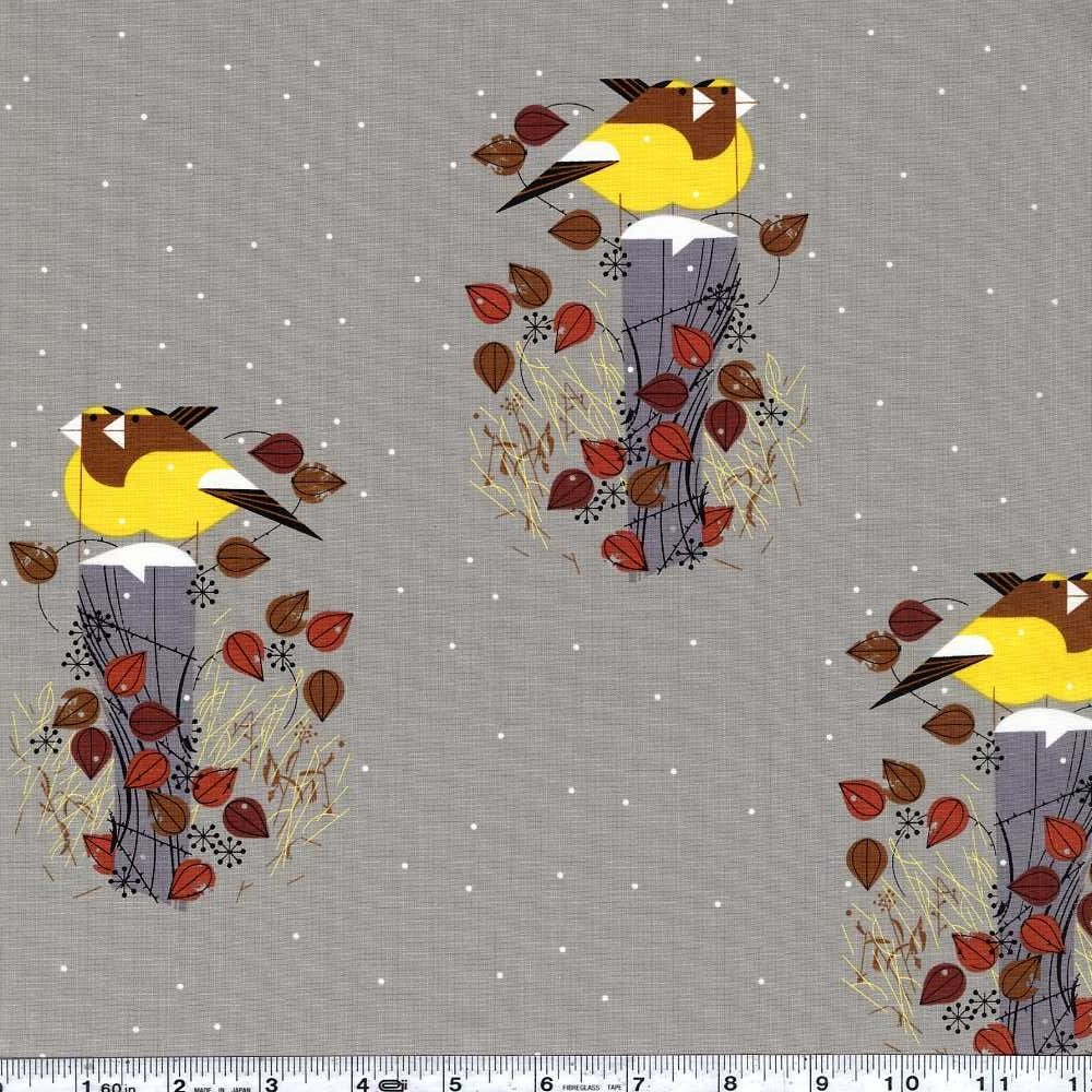 Charley Harper Holidays - Evening Grosbeak