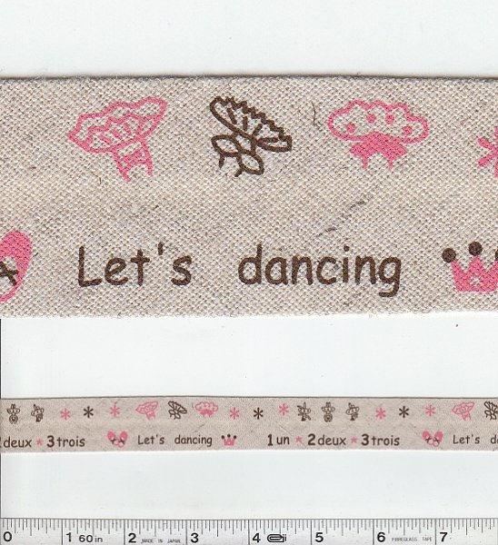 Printed Bias Tape - Dancing