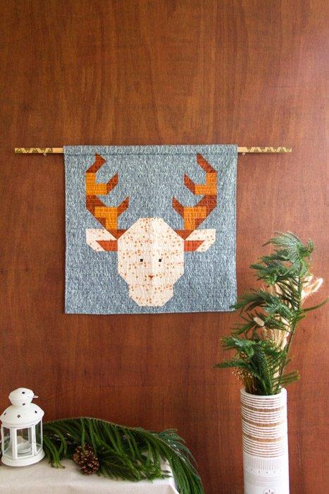 Dear Deer Mini Quilt - PDF Pattern