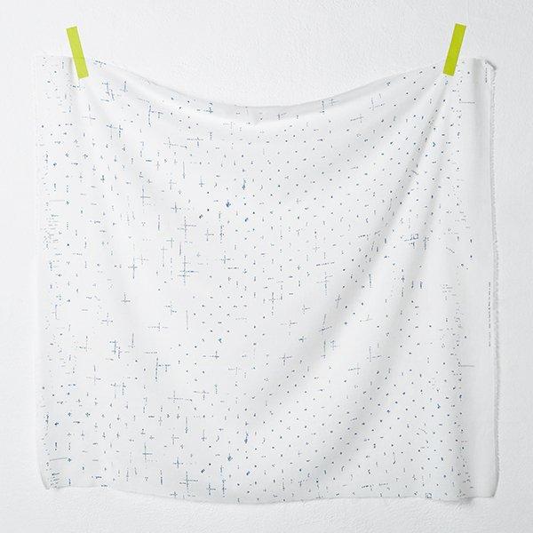 nani IRO - Apres la Pluie Single Gauze - Color A (Indigo on White)