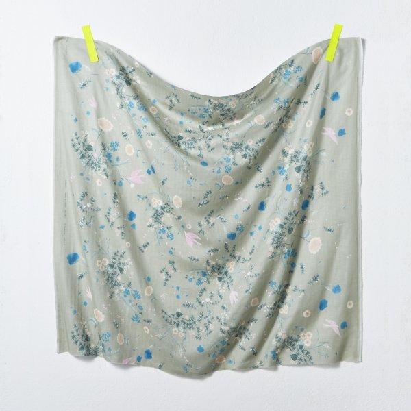 nani IRO - Jardin Gauze - Color C (Pale Sage)