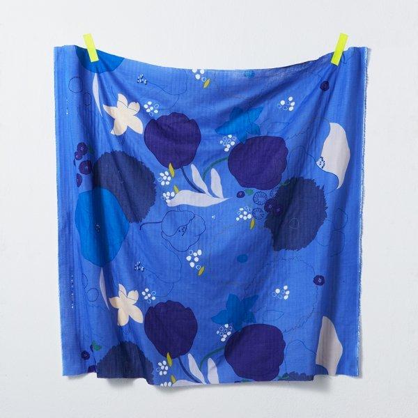 nani IRO - Waltz Gauze - Color C (Royal Blue)