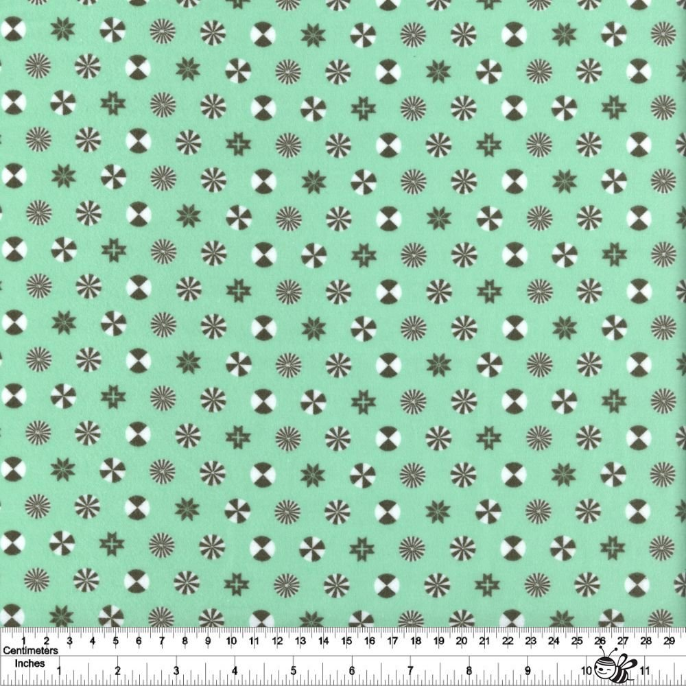Holiday Homies Flannel - Peppermint Stars - Pine Fresh
