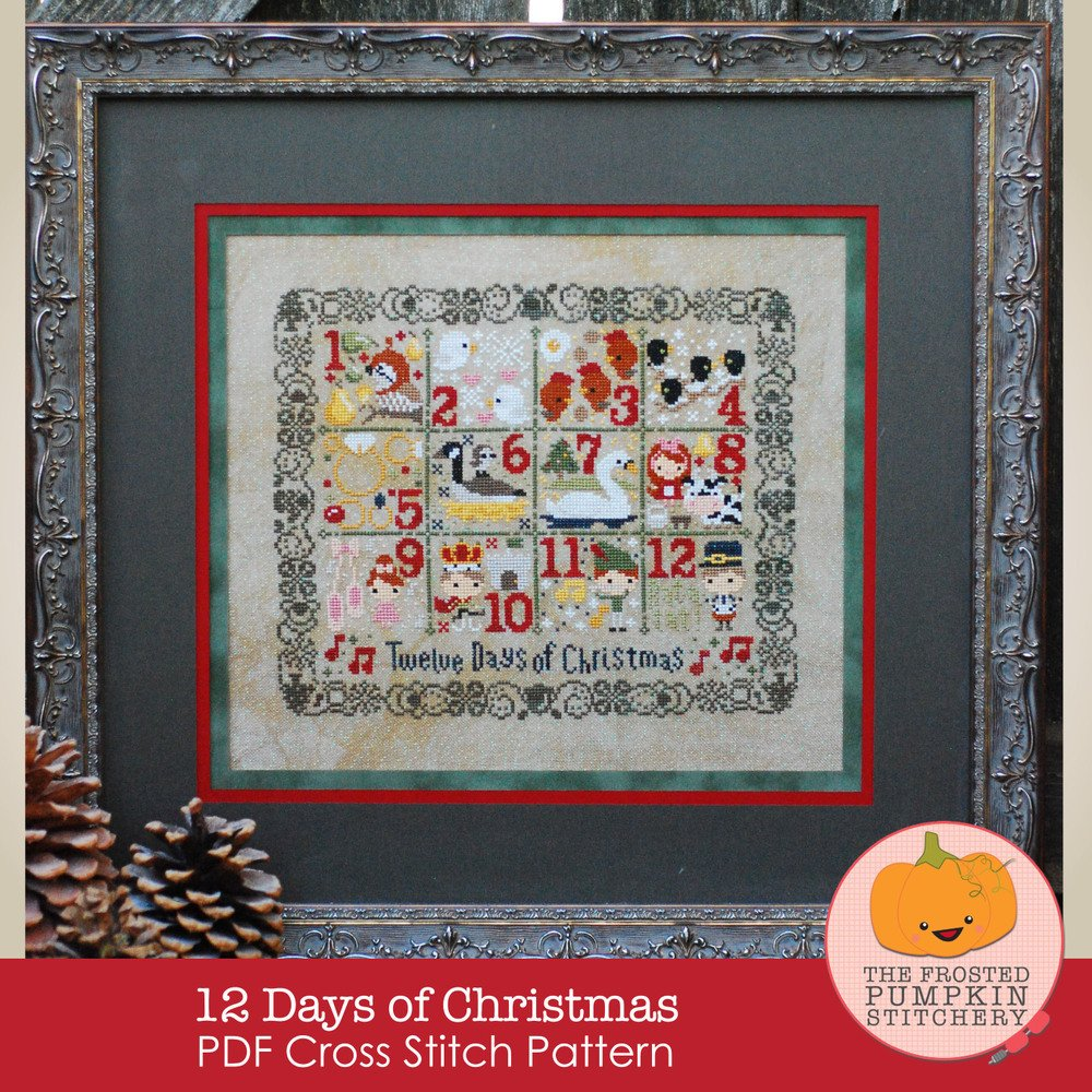 Frosted Pumpkin Stitchery - 12 Days of Christmas