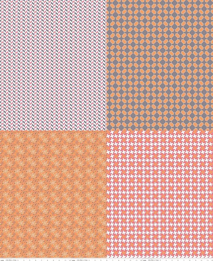Gracie - Fat Quarter Panel - Pink