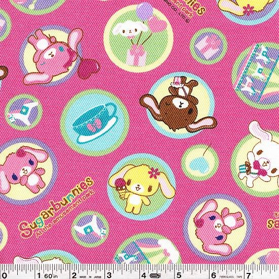 Sugarbunnies - Amusement Park Twill - Pink