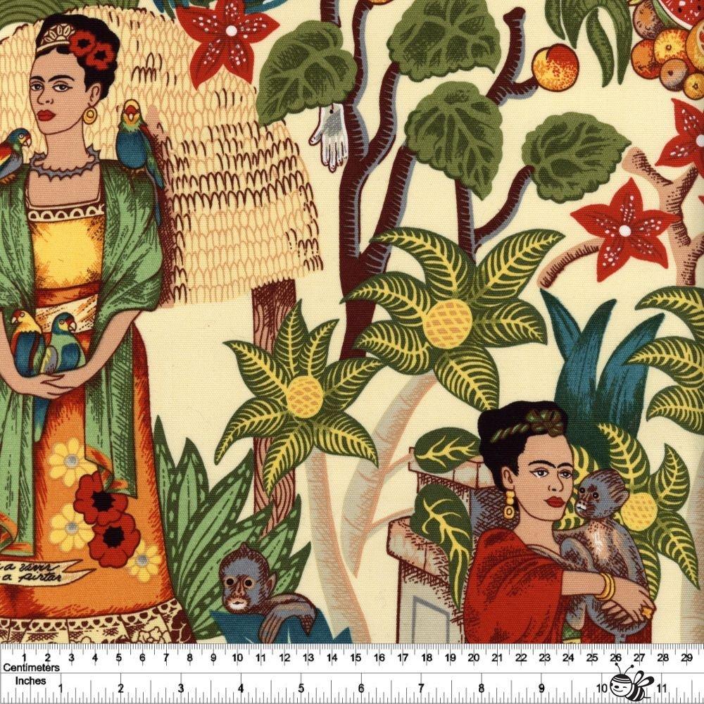 Folklorico - Frida's Garden Canvas - Tea
