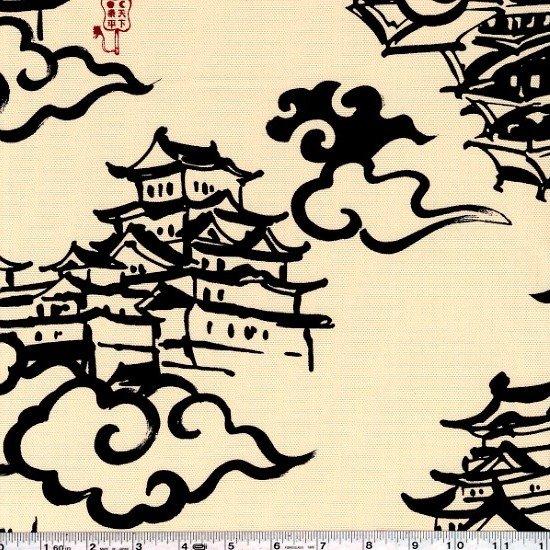 Calligraphy Canvas - Indigo on Natural