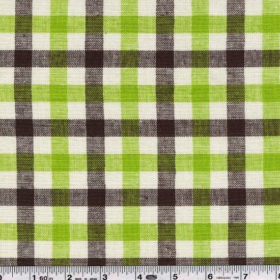 Yarn Dyed Plaid - Grass Green & Brown