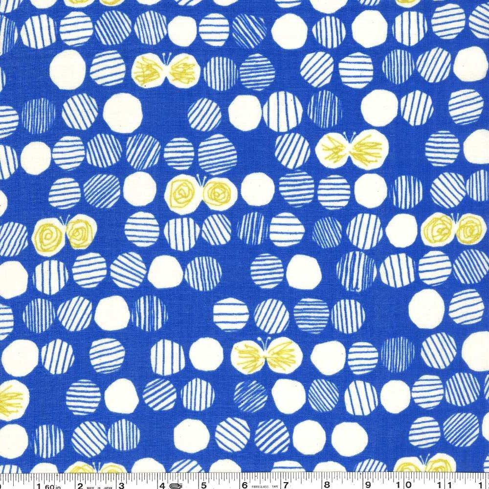 Butterfly Dot Gauze - Royal Blue