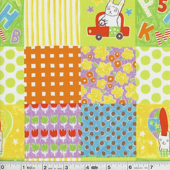 Bunny Travel - Patchwork - Yellow