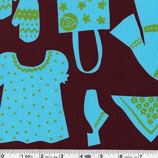 Scandi Wardrobe - Blue & Brown