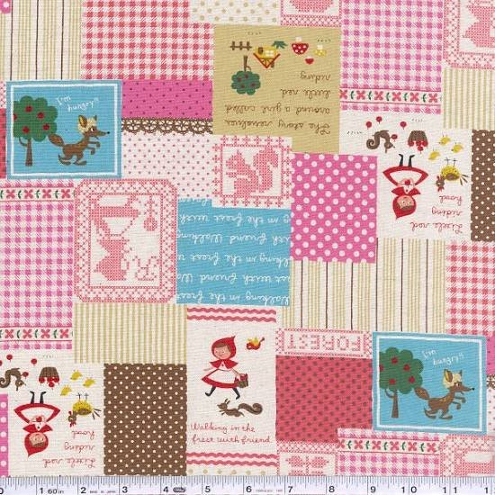Little Red Patchwork - Pink & Blue
