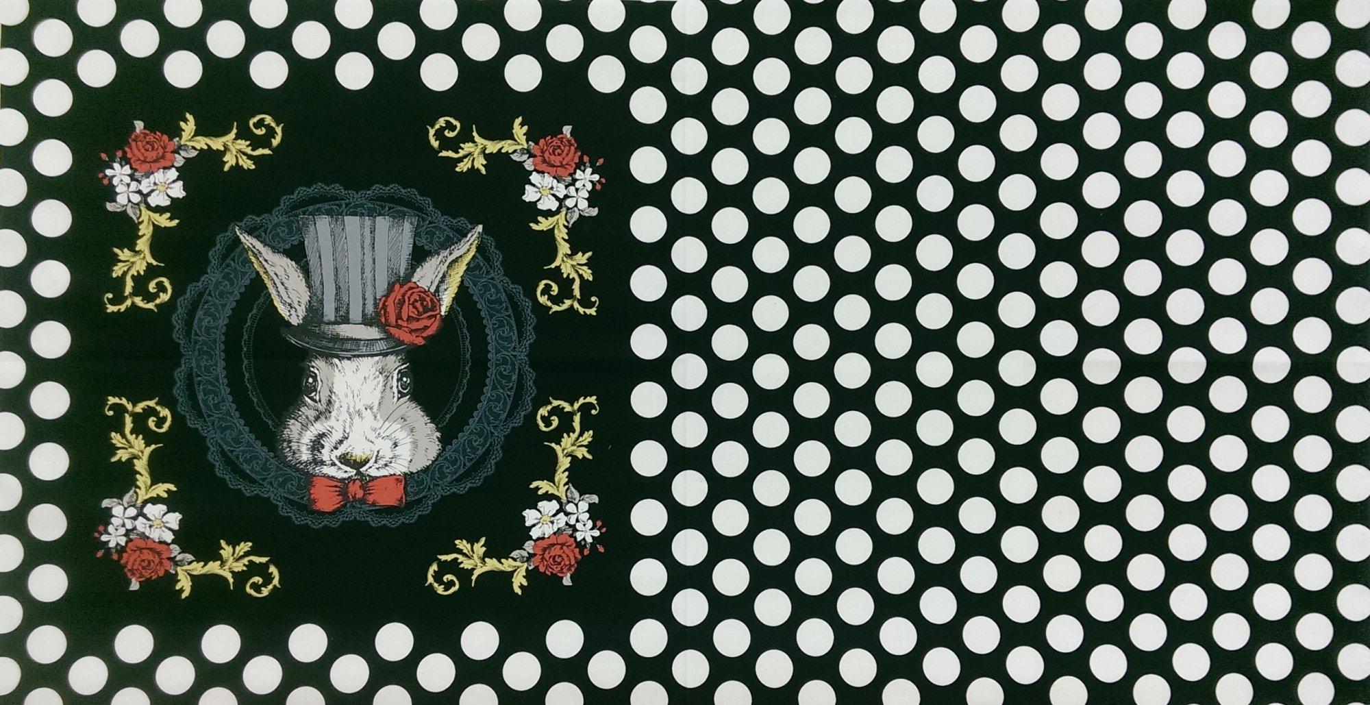 White Rabbit Panel - Black