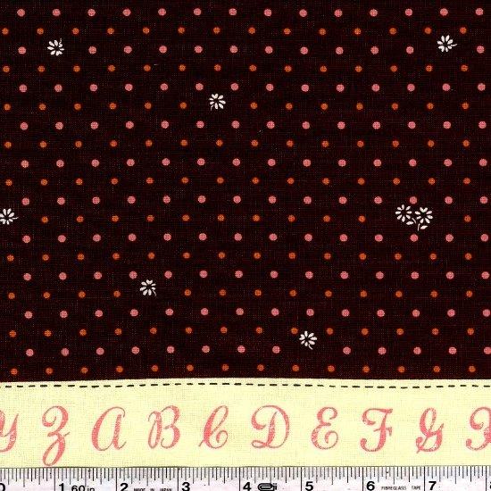 Lighthearted - Alphabet Border - Chocolate Brown