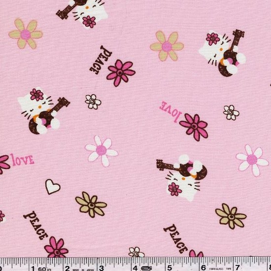 Hello Kitty - Peace & Guitars - Pink