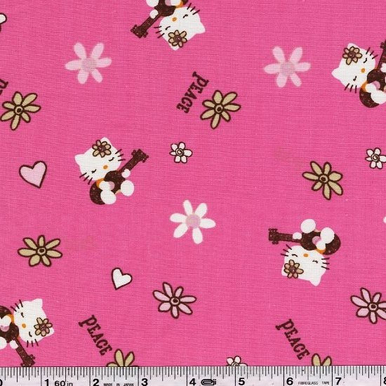 Hello Kitty - Peace & Guitars - Hot Pink