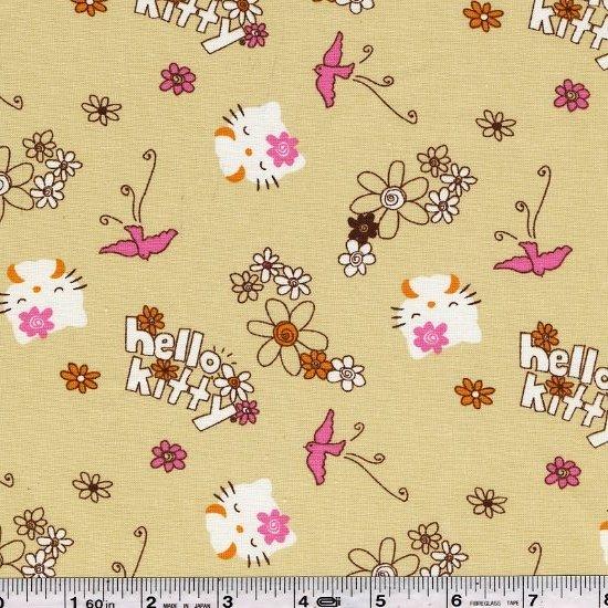 Hello Kitty - Kitty & Flowers - Tan