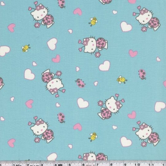 Hello Kitty - Hearts & Ladybugs - Aqua