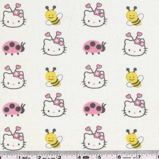 Hello Kitty - Faces & Bugs - White