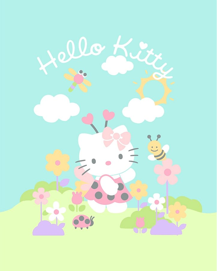 Hello Kitty - Ladybug Girl Panel - Aqua
