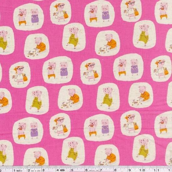 Nursery-Versery - Three Little Pigs - Pink