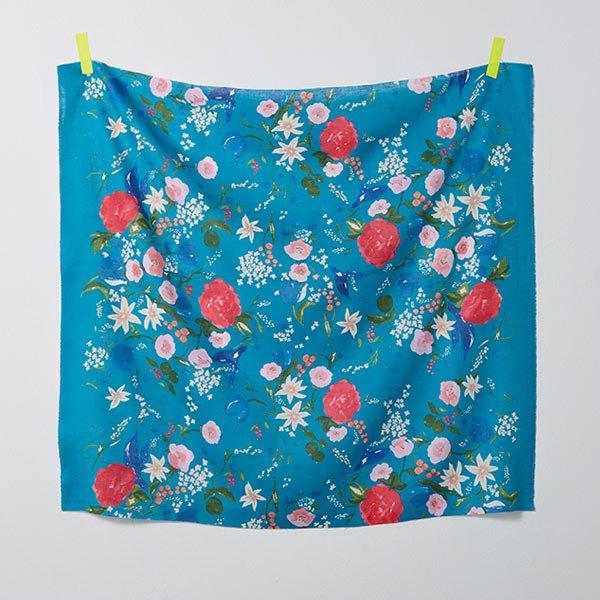 nani IRO - Fuccra Rakuen Linen- Turquoise