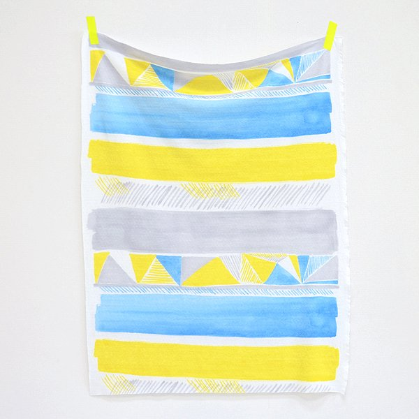 Nani IRO - Herringbone Knit - Blue & Yellow