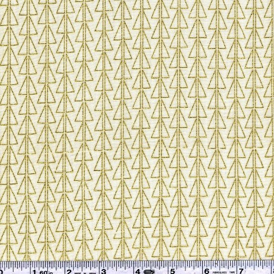 Monochrome - Points Double Gauze - Gold on Natural