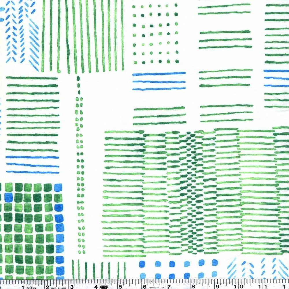 Törten - Building Gauze - Green & Blue