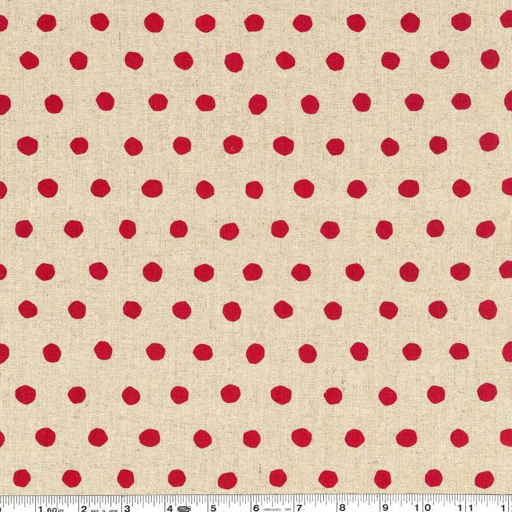 Echino Standard - Dot - Natural & Red