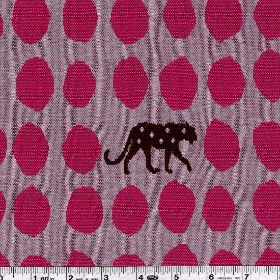 Echino - Panther Knit Jacquard - Raspberry