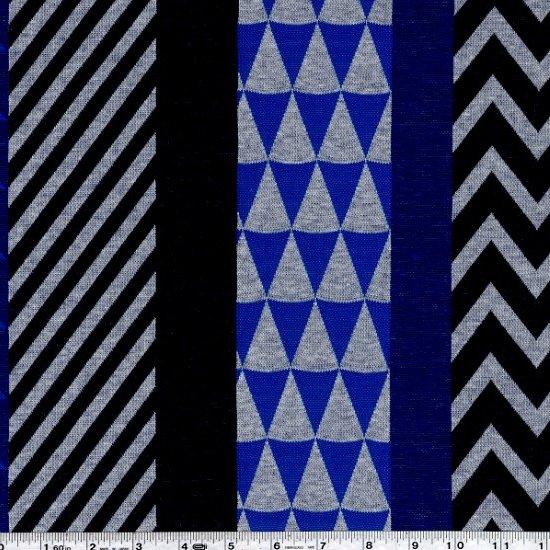 Echino - Block Knit Jacquard - Blue & Black