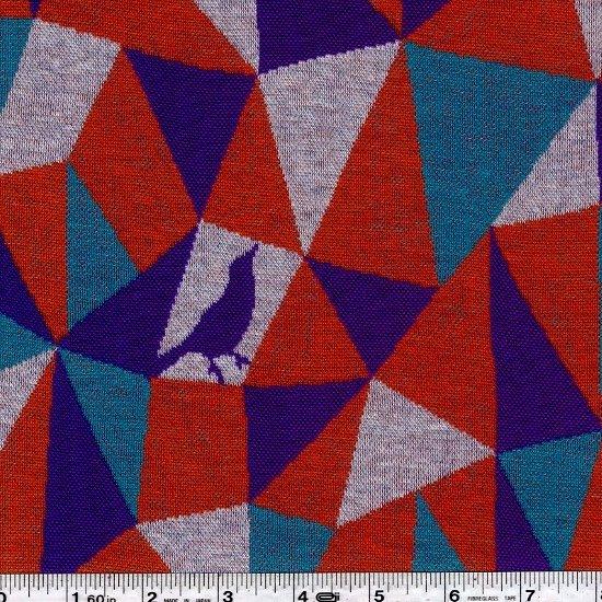 Echino - Mosaic Knit Jacquard - Tangerine
