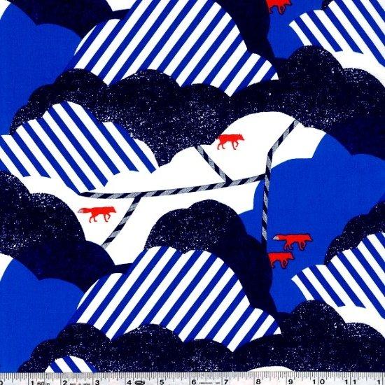 Echino Huedrawer Sateen - Cloud - Blue