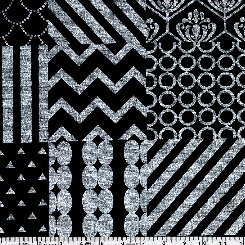 Echino - Piece - Silver on Black