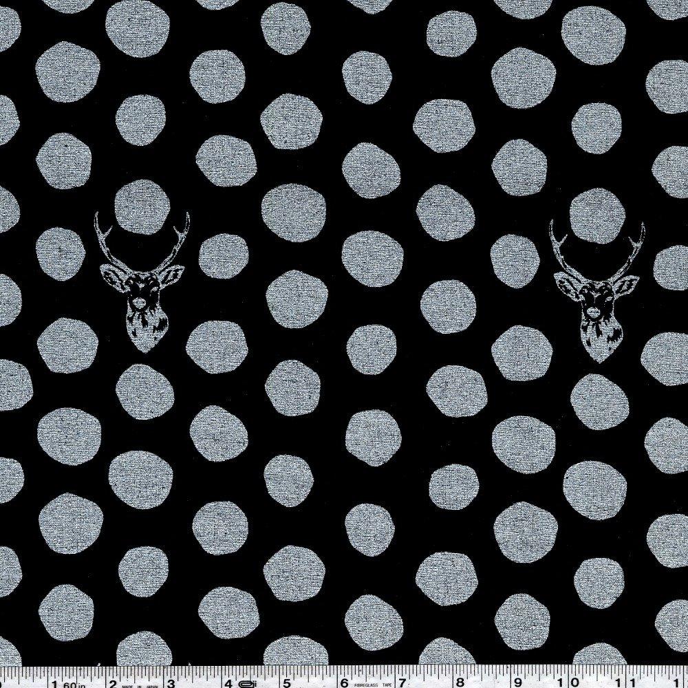 Echino - Sambar - Silver on Black