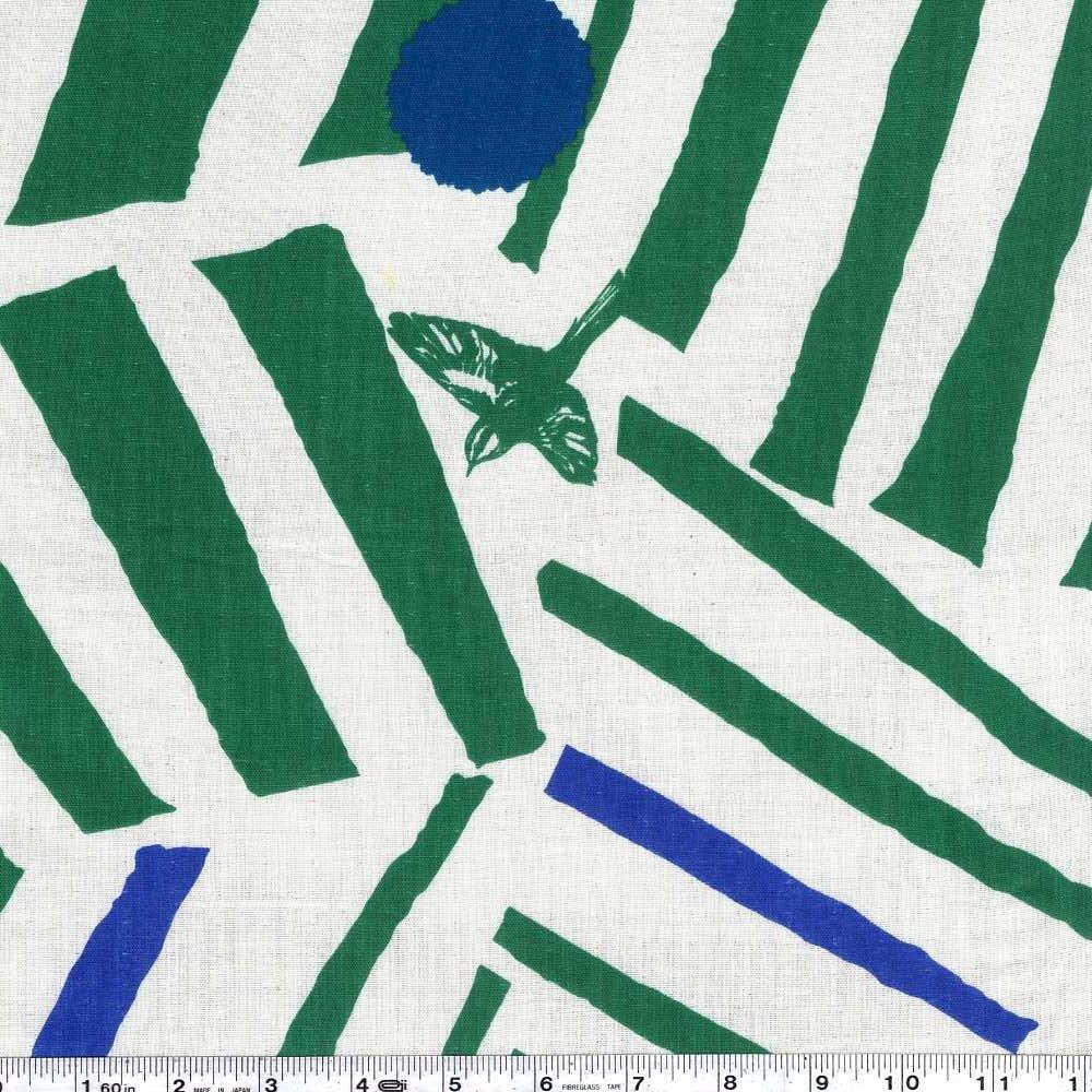 Echino - Ray Double Gauze - Green & Blue