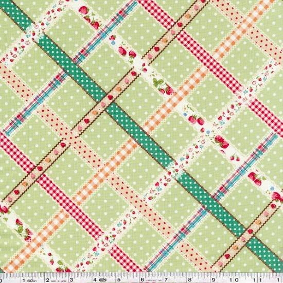 Ribbon Lattice - Green