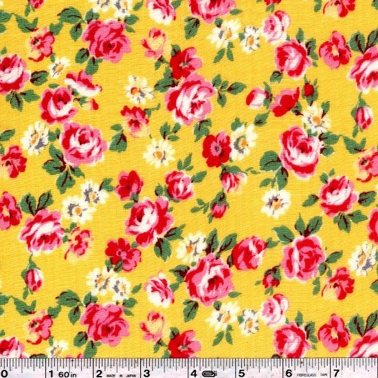 Pocket Full of Roses Gauze - Yellow