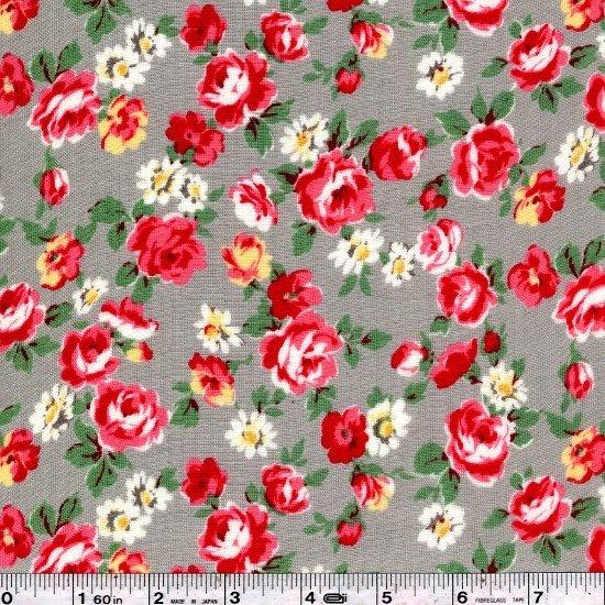 Pocket Full of Roses Gauze - Grey