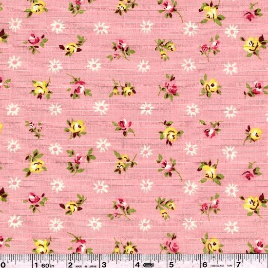 Fancy Feedsack Flowers - Pink