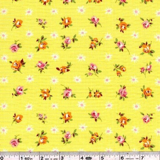 Fancy Feedsack Flowers - Yellow